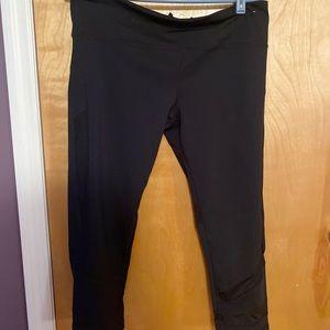 Black leggings with back zipper GAP